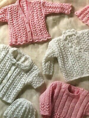 poitrine Nº 2 Prem Bébé Cardigans Easy Knit Knitting Pattern DK 12-20 in environ 50.80 cm
