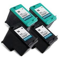 4 Pack HP 74 75 Ink Cartridge - OfficeJet J5780 J5783 J5785 J5788 J5790 J64