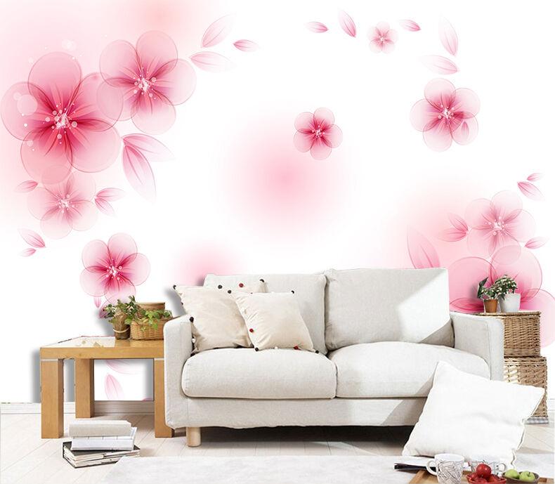 3D Flying Flowers Petals 731 Paper Wall Print Wall Decal Wall Deco Indoor Murals