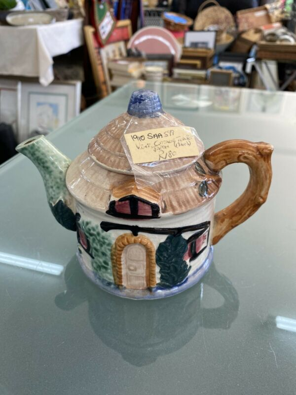 Vintage Japanese Ceramic Cottage Tea Pot