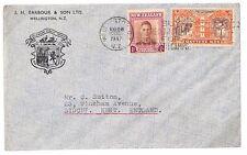 U269 1947 New Zealand *WELLINGTON* Kent GB Cover {samwells-covers}PTS