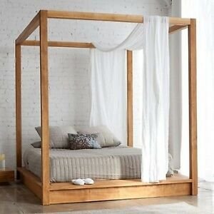 Image Is Loading Modern White Sheer Window Valance Canopy Bed Curtain
