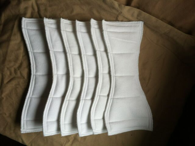 Handmade cloth diaper inserts/soakers (6 layers)