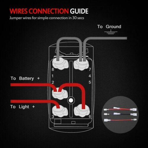 "/""Lighted Whip+Spot Light/"" Rocker Switch For CAN-AM Defender COMMANDER MAVERICK"