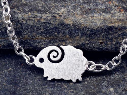 Silberarmband Schaf Tier Armband Silber 925 Armkette Damen Schmuck Geschenk