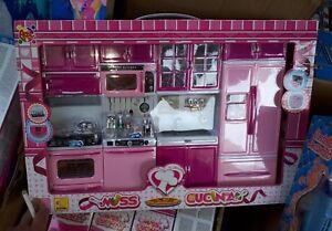Set cucina completa per bambola altezza barb gioco di qualità ...