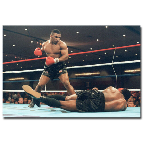 MIKE TYSON BOXING LEGEND SILK POSTER HEAVYWEIGHT BOXER 13X18 24X32 INCH 003