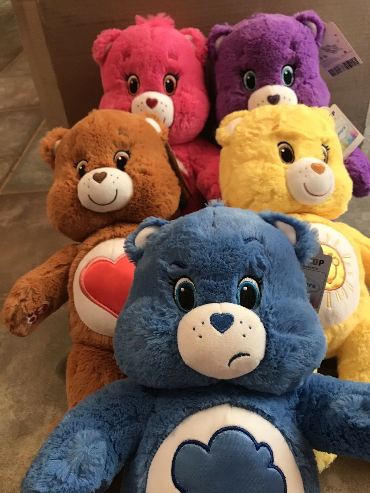 BUILD A BEAR AMERICAN GREETINGS CARE BEARS Set Of 5 NWT Unstuffed