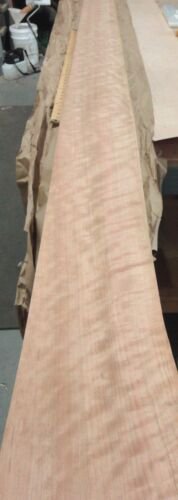 """Cherry Figured Ropey Quilted wood veneer 7/"""" x 147/"""" raw no backing 1//42/"""" thick"""