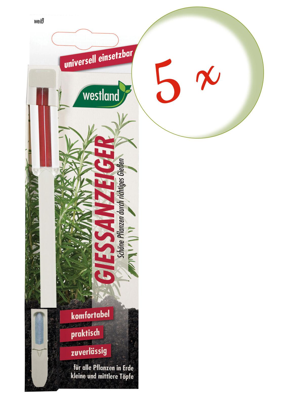 Savings Set: 5 X Westland Indicator For Flower Soil, 16 CM White