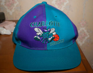 40a36e05 Vintage 90s Charlotte Hornets Snapback G Cap Hat Brand New Official ...