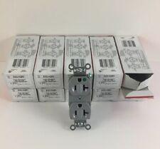 1 Box of 10 Slater 8300-AG-GY HOSPITAL GRADE 20A 125V Duplex Receptacle Grey
