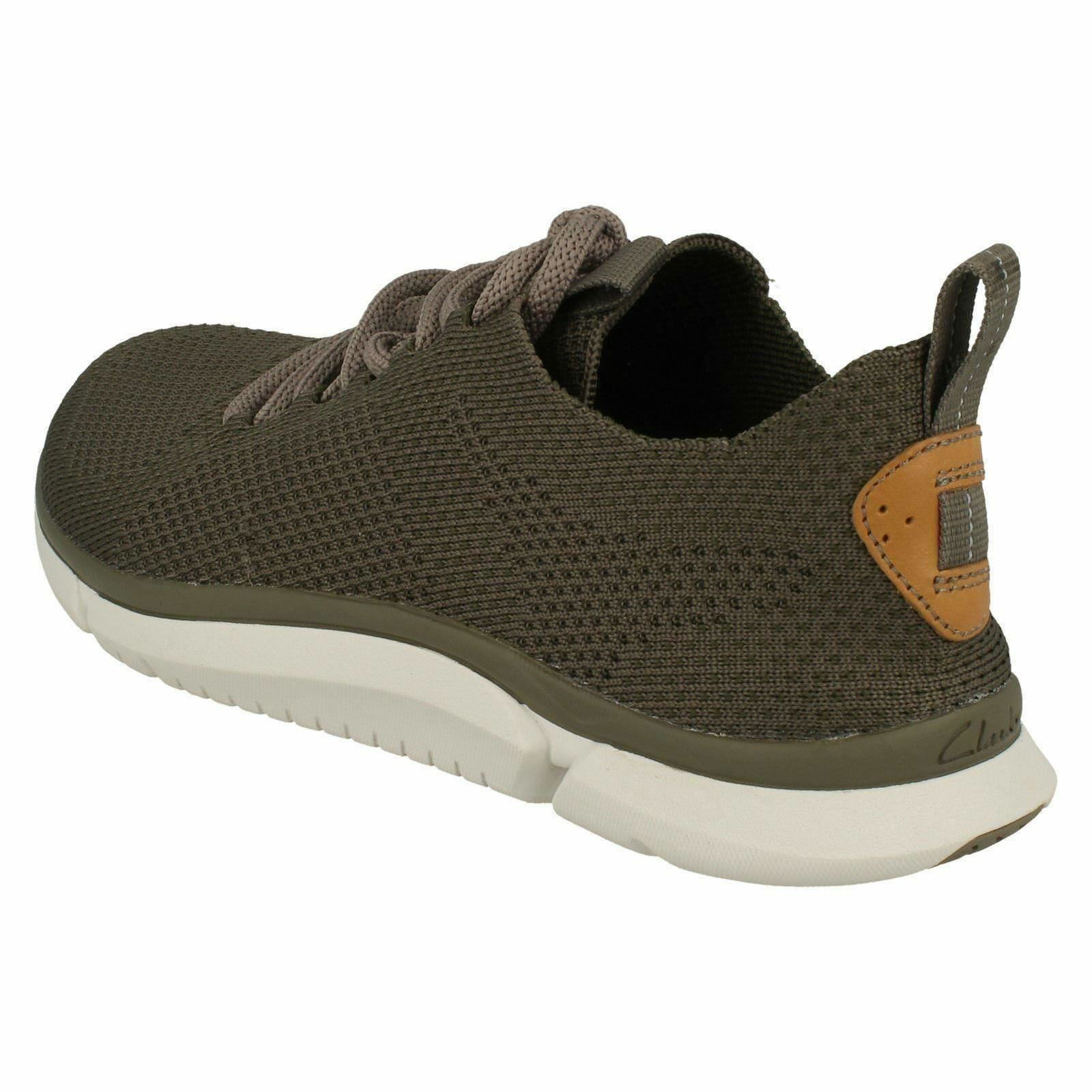 Mens Clarks Triken Run Casual Textile Lace Up Trainers
