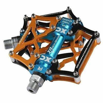 RockBros Road Mountain Bike Pedals 3 Sealed Al alloy Bearing Blue New UK STOCK