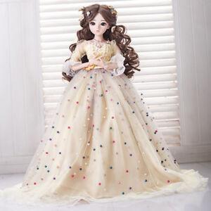 "24/"" 1//3 BJD Doll Handmade Princess Girl Dolls Toys Wig Clothes Eyes Make Up Gift"