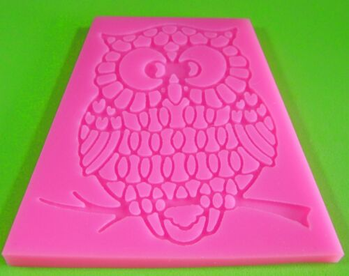 Cute Filigree Owl  Lace Embossing Mould Mat by Fairie Blessings