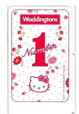 "Playing Card KHA-1-24 A in Sanrio Catalog Single Card Sanrio Art /""Hello Kitty/"""