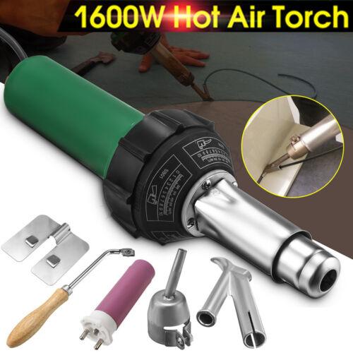 1600W 220V Hot Air Plastic Welding Gas Torch Gun Heat Welder Pistol Nozzle Tool