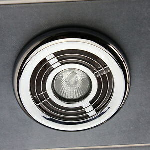 Bathroom Ceiling Light Kit Chrome Air Vent Grill Outlet