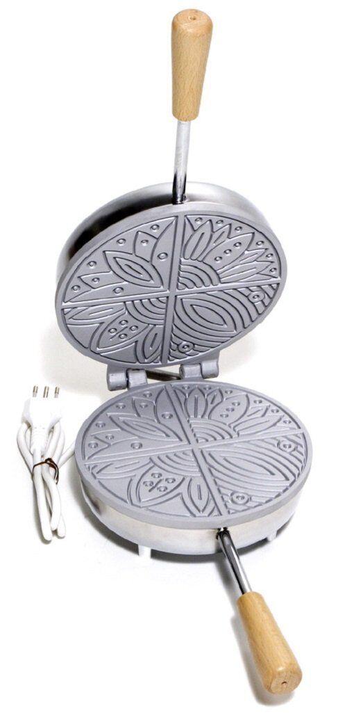Ferro piastra per pizzelle cialde neole ELETTRICO