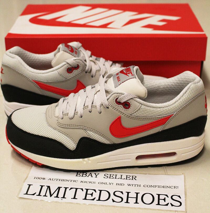 Nike air max 1 unbedingt licht klirrend kalt 537383-060 mailand rot - - schwarz 90