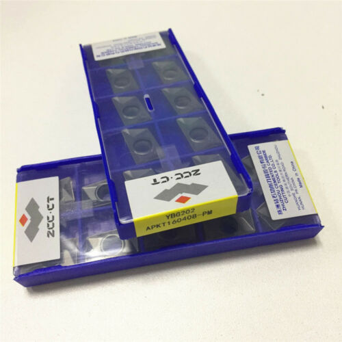 3pack ZCC.CT APKT160408-PM YBG202 carbide inserts Free Shipping 30pcs