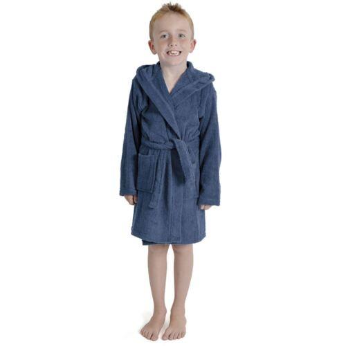 Ragazzi Ragazze Bambini Morbido Vestaglia 100/% COTONE Robes accogliente CALDO SPUGNA