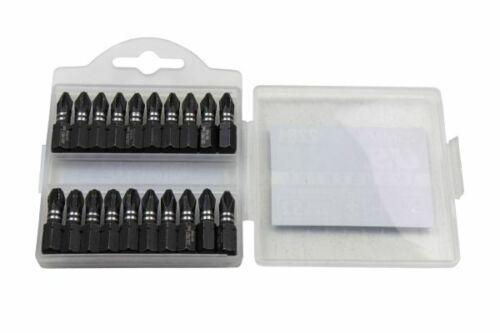 US PRO INDUSTRIAL PACK 20 PH2 PZ2 PZ3 25MM IMPACT TORSION SCREWDRIVER BITS