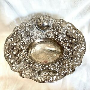 Silver Plated Ornate Floral Bowl Godinger Silver Art Company 12 Width Ebay