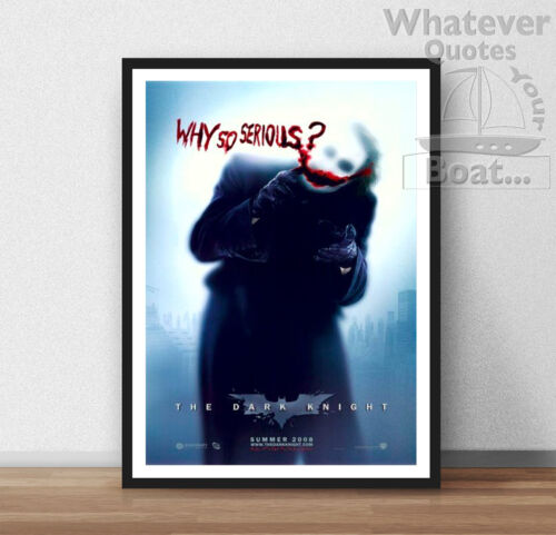 WHY SO SERIOUS Poster Wall Art Print Picture Batman Frame The Joker