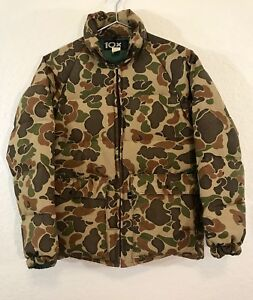 Vintage-10X-Camouflage-Down-Jacket-Size-S-M-Duck-Hunting-All-Purpose-USA