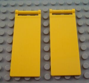 LEGO Lot of 2 Pair of Yellow 6x2 Smooth Wedge Pieces