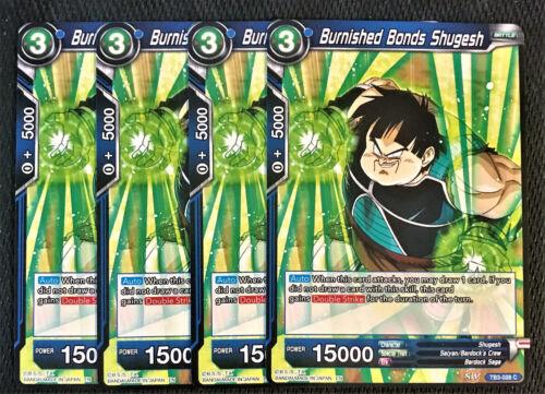 4x Burnished Bonds Shugesh TB3-028 C Dragon Ball Super TCG Near Mint