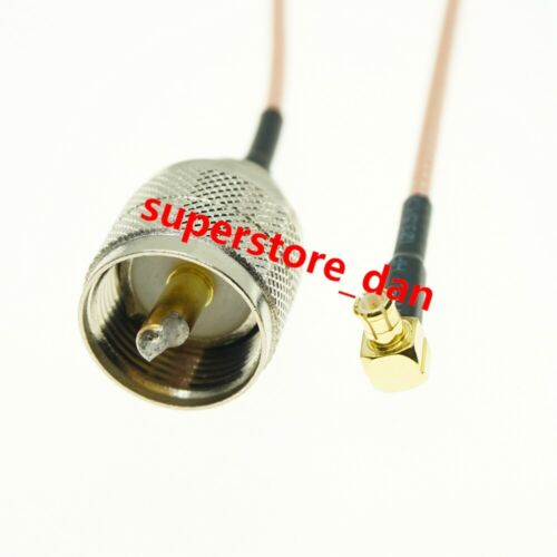 15//30//50cm RG316 MCX MALE RIGHT ANGLE to UHF PL259 MALE RF Pigtail Cable
