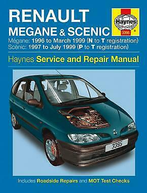 Renault Megane Scenic Haynes Manual1997-03 1.4 1.6 2.0 Pet 1.9 Dsl Workshop 3395
