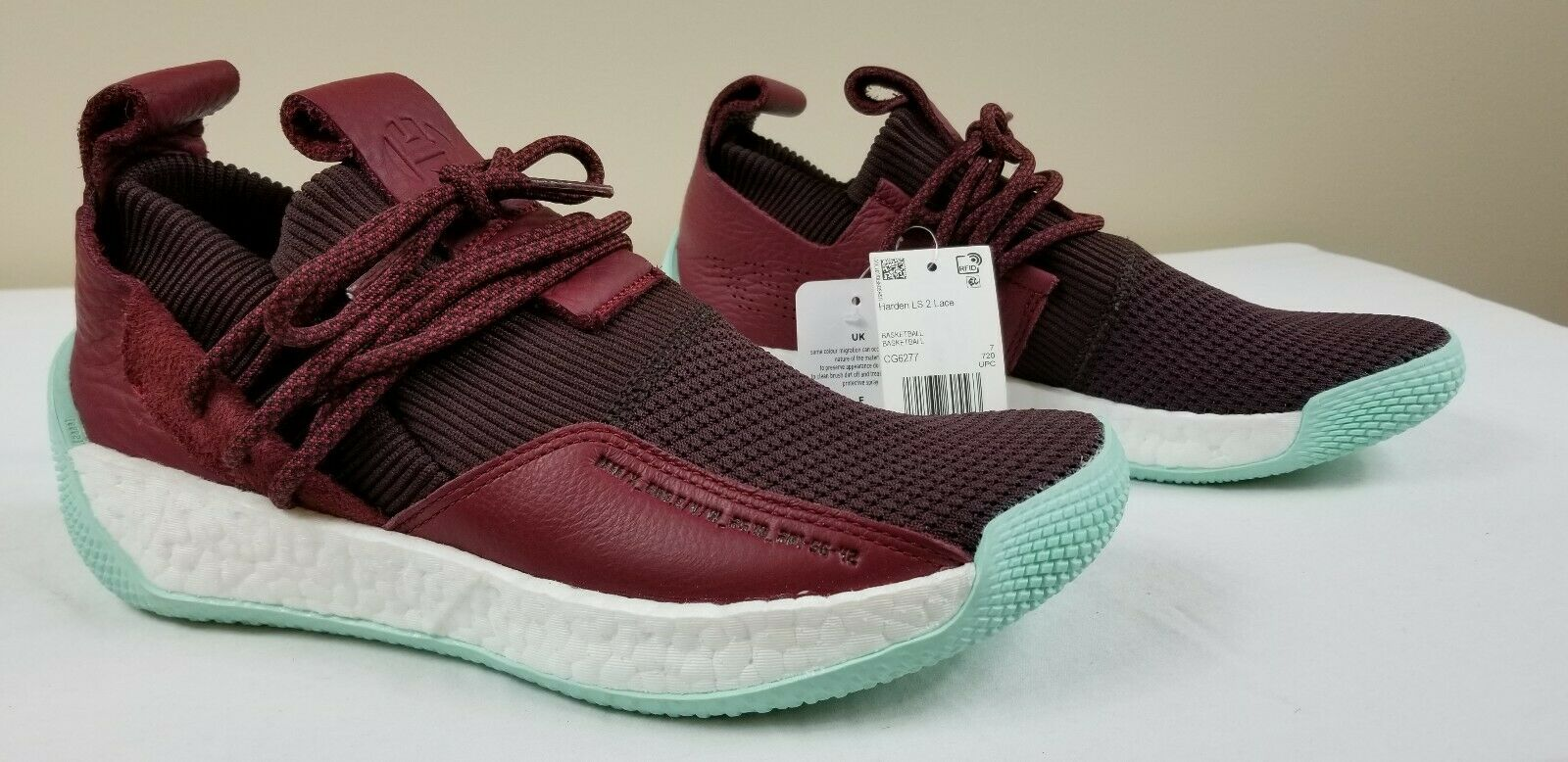 Adidas Performance Harden LS 2 Lace CG6277 Red Maroon Basketball shoes Size 7.5