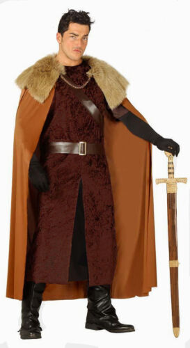 Homme Game of Thrones Costume Médiéval Highlander Viking Fancy Dress Outfit NEUF