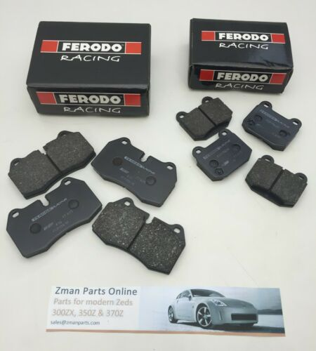Ferodo DS2500 Avant Et Arrière Plaquettes de frein pour Nissan 350Z Avec Brembo calipers