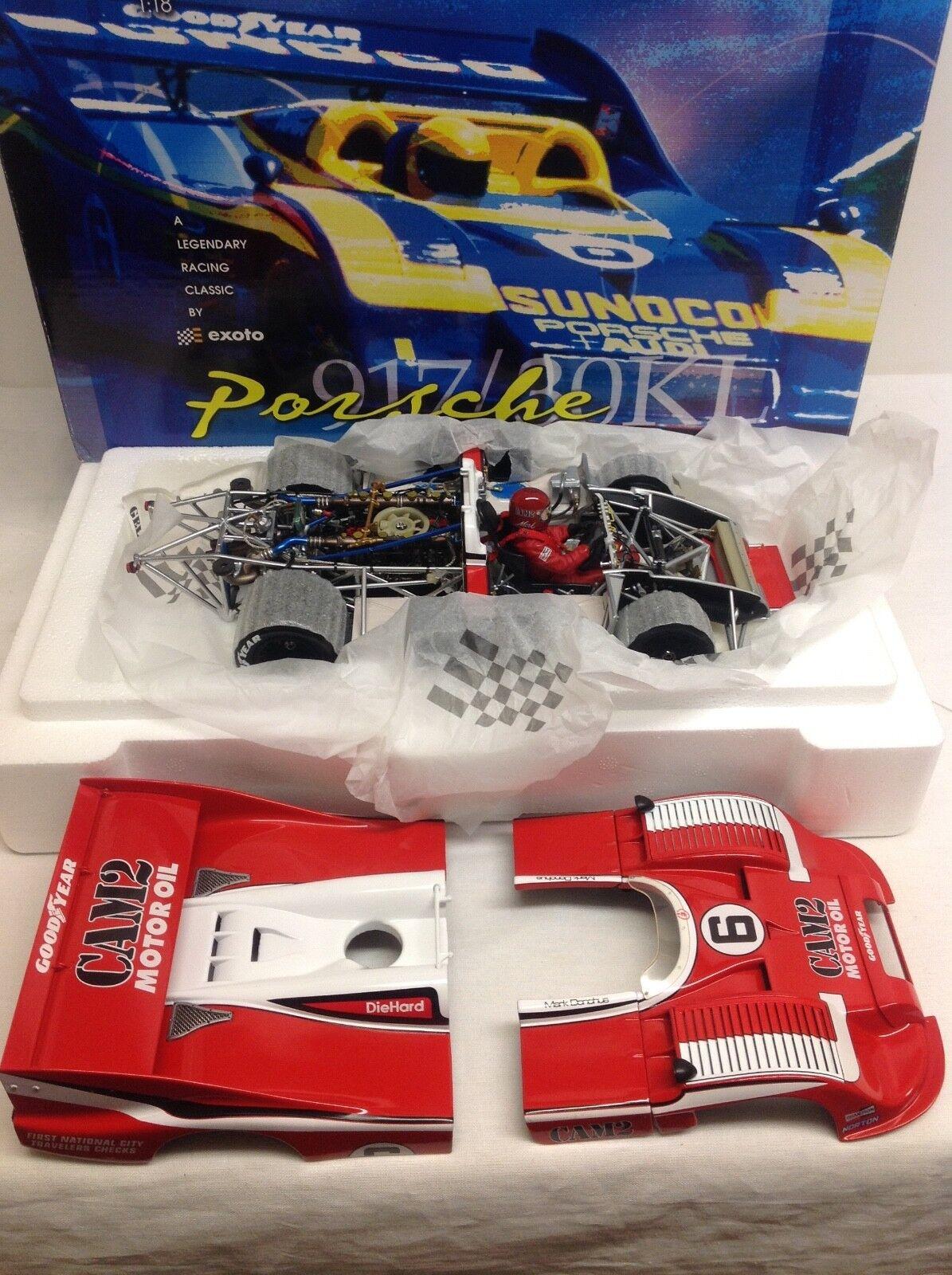 ventas en línea de venta Exoto Porsche 917 30 cam cam cam 2  6 1975 1 18 nuevo Mark Donohue 18184 Sunoco Can Am  edición limitada