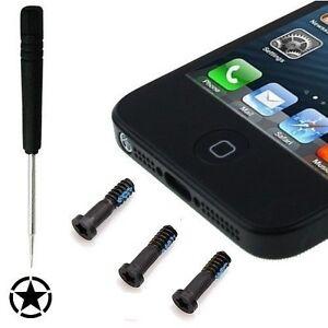 5 Point Star Pentalobe Screwdriver + 3 Black Screws for Apple iPhone 5 5S