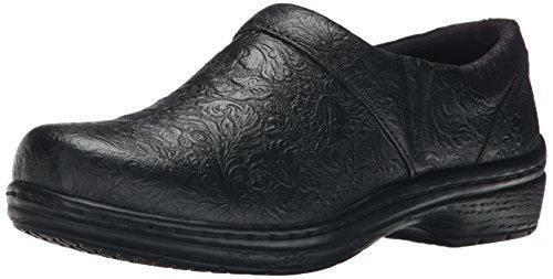 Klogs Mission - Leather Clog - Many Colors Black Tooled - 9 Wide