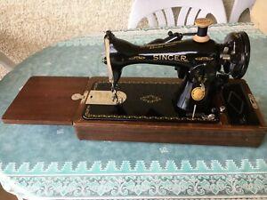 Machine à Coudre Singer Ancienne (15b88) Fin Années 40, Début Années 50 Effet éVident