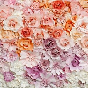 Details About 8x8ft Decoration Prop Photography Backdrop 3d Flower Wallpaper Background Studio
