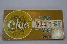 Clue 1963 Parker Brothers Detective Game Complete Gold Fingerprint Box