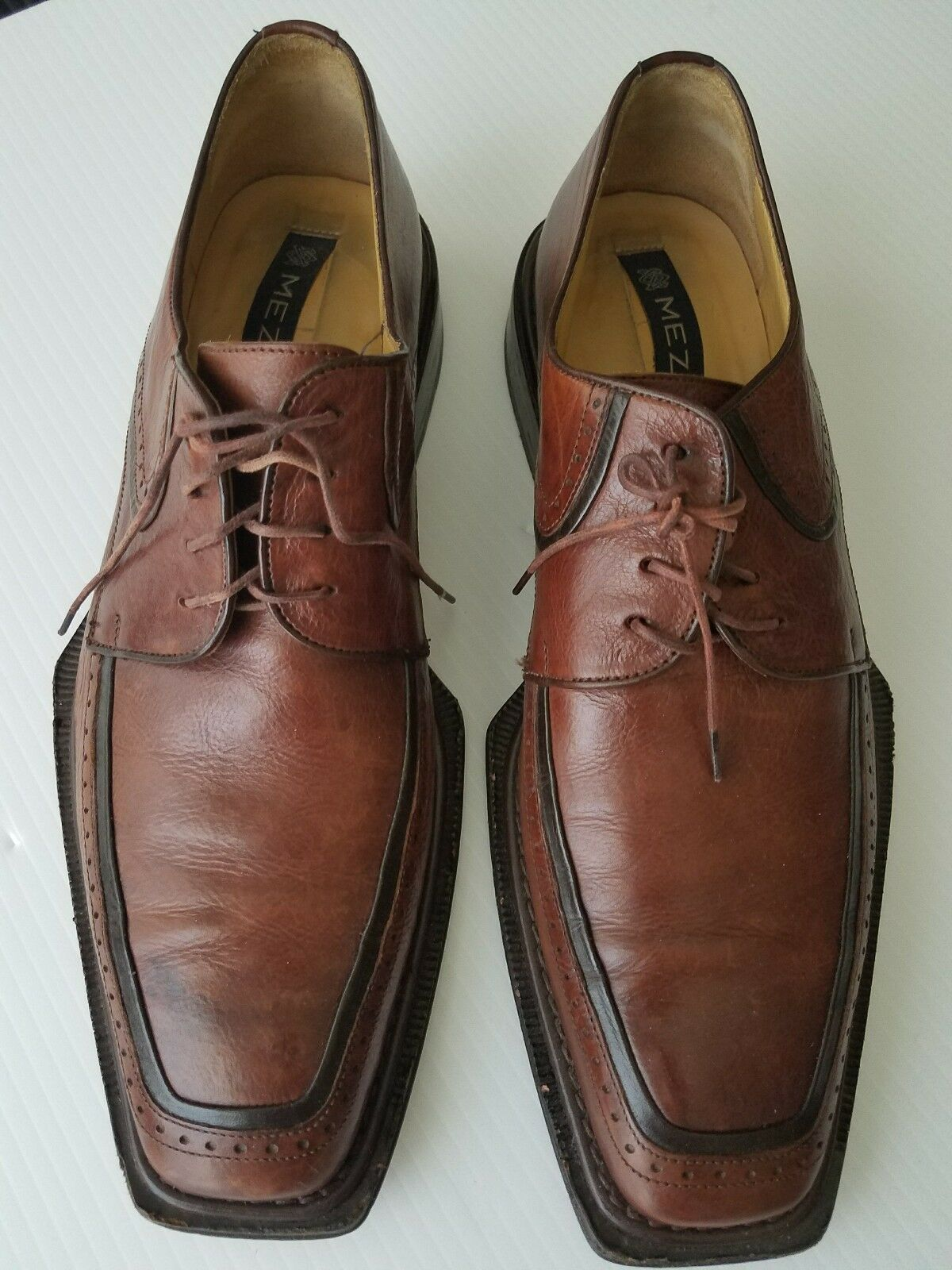 Mezlan. Stratus Brown Leather Shoes - Size: 10.5 M. Made in Spain.