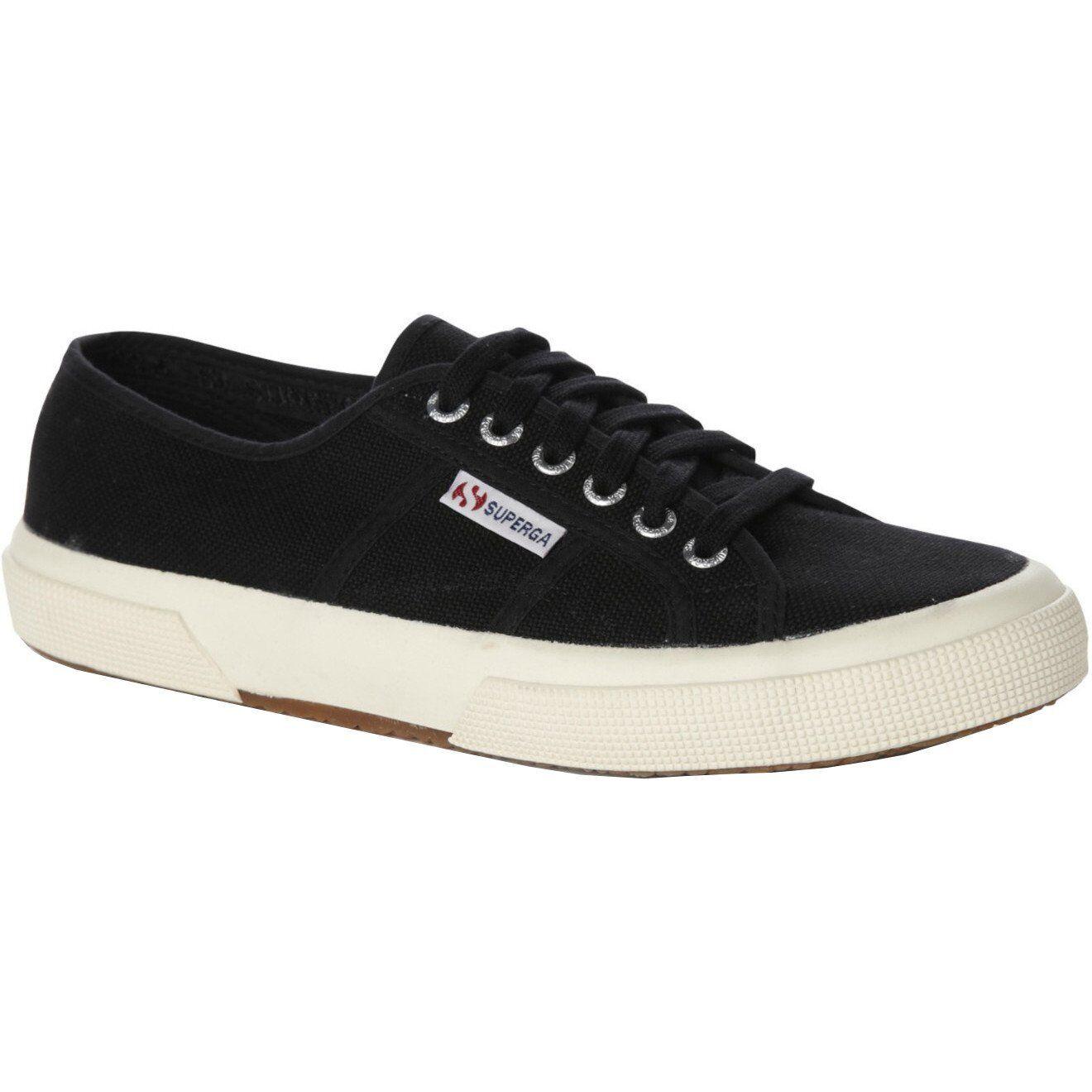 Superga 2750 Cotu Unisex Footwear shoes - Black White All Sizes