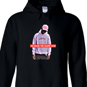 Mens Glass Skull Black Mask Hoodie Sweater Black