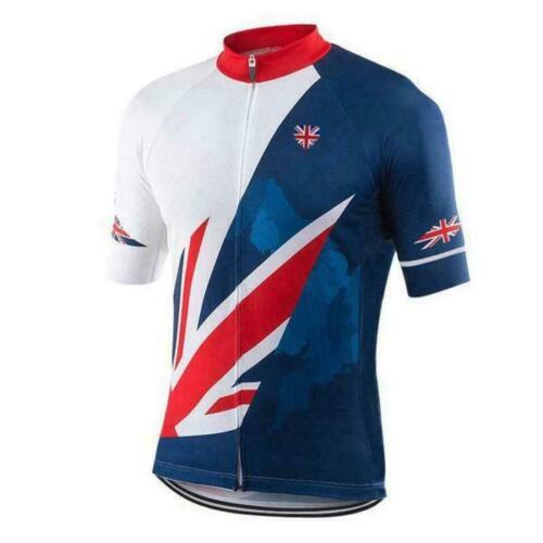 Cycling Short Sleeve Jersey UK Badge Union Jack Cycling Jersey
