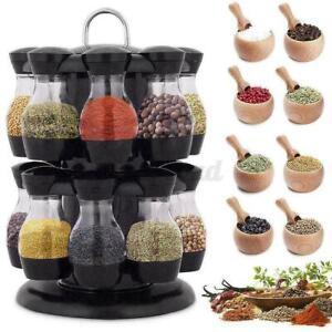 Rotating Cruet Condiment Seasoning Jars Set For Spices Sprays I3W0 Bottles B8M4
