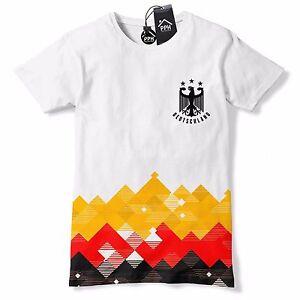 a50ed416b Image is loading Germany-Football-Shirt-Retro-Pattern-Deutschland-T-Shirt-